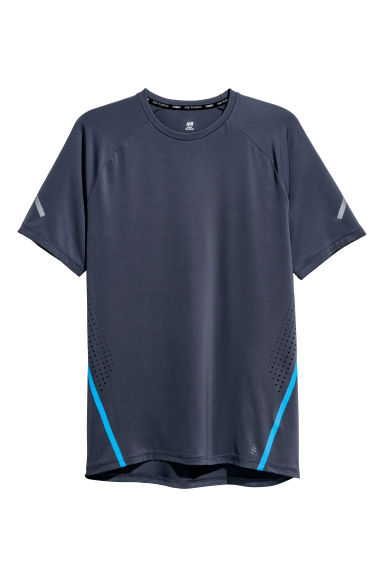 Short-sleeved running top - Dark blue -  | H&M