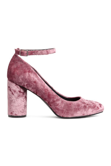 Round-heeled court shoes - Vintage pink - Ladies | H&M CN