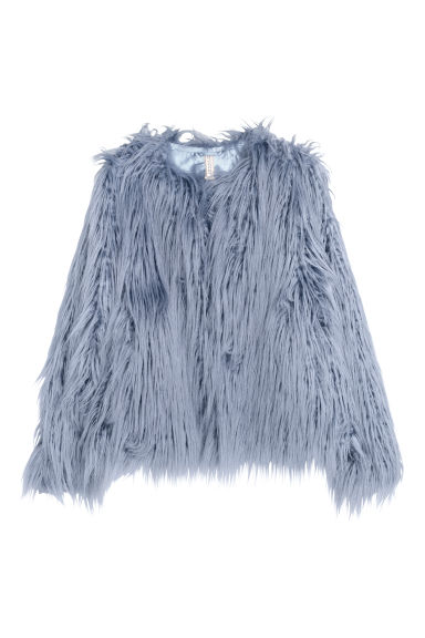 Faux fur jacket - Blue - Ladies | H&M