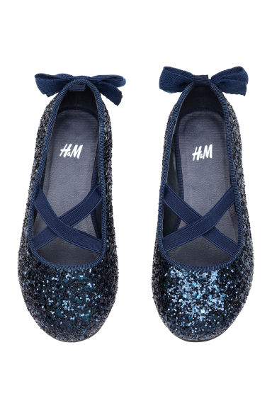 Ballet pumps - Dark blue/Bow - Kids | H&M CN