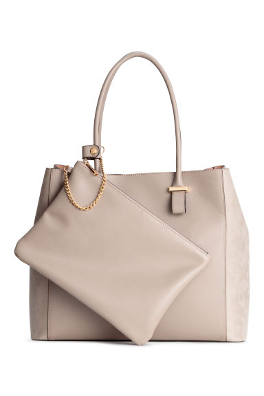 Shopper and clutch - Light mole - Ladies | H&M CN