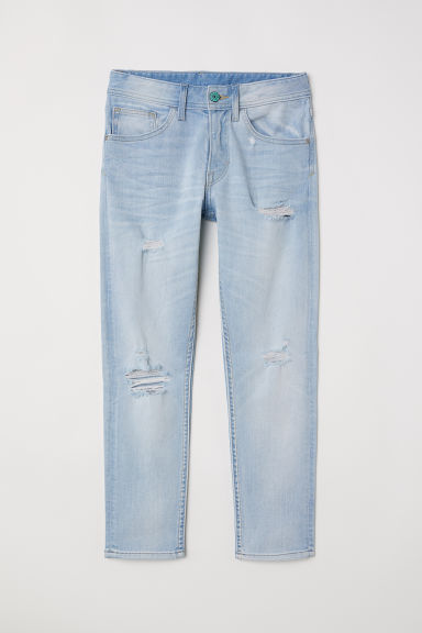 Relaxed Tapered Fit Jeans - Светлосин деним -  | H&M BG