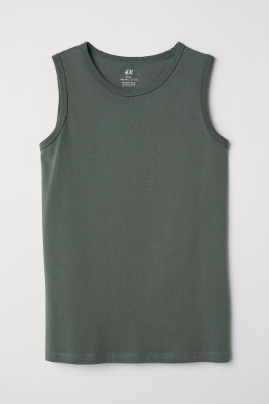 Vest top - Green - Kids | H&M CN