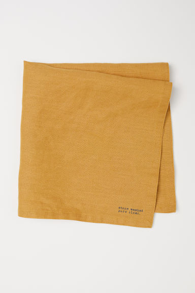 Washed linen napkin - Dark yellow - Home All | H&M GB