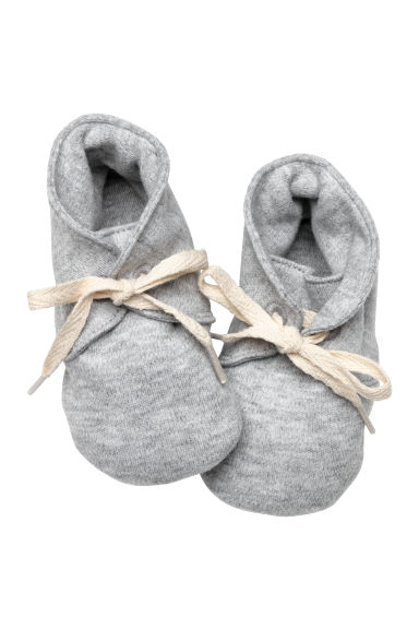 Soft cotton shoes - Light grey - Kids | H&M CN