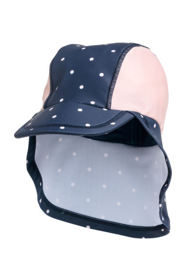 Sun cap with UPF 50 - Dark blue/Spotted - Kids | H&M