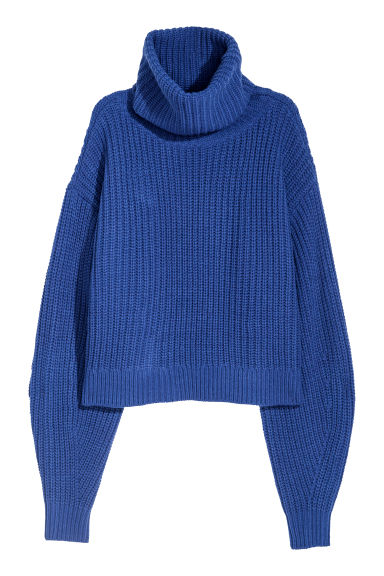 Knitted wool-blend jumper - Cornflower blue - Ladies | H&M CN