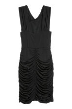 Draped dress - Black - Ladies | H&M CN 3