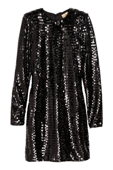 Sequined dress - Black - Ladies | H&M