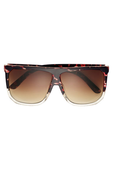 Sunglasses - Brown/Tortoiseshell-patterned - Ladies | H&M IE 1