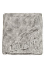 Knitted cotton-blend blanket - Light mole - Home All | H&M CN 1