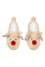 Chaussons souples - Beige/renne - FEMME | H&M BE 2