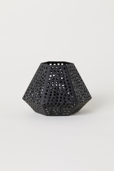Metal tealight holder - Black -  | H&M IE