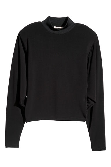 Top with shoulder pads - Black -  | H&M
