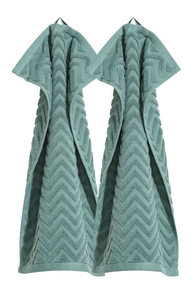 2-pack guest towels - Dark turquoise - Home All | H&M CN