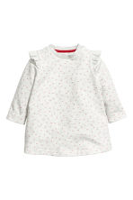 Dress and tights - Light grey/Hearts - Kids | H&M CN 2