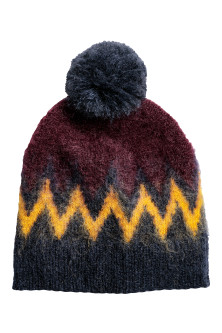 Knitted mohair-blend hat
