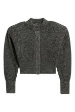 Mohair-blend cardigan - Dark grey/Glittery - Ladies | H&M 2