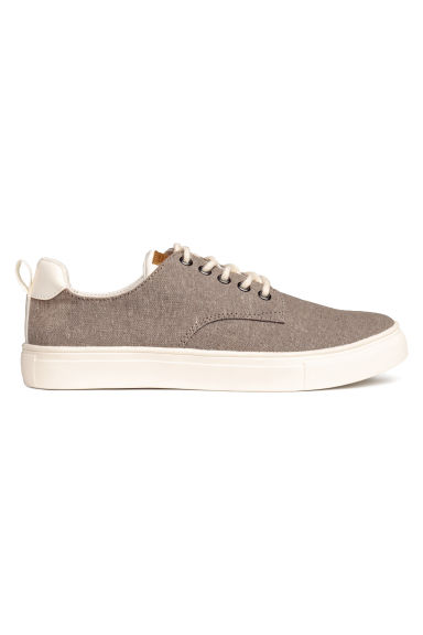 Cotton chambray trainers - Mole - Kids | H&M CN