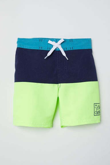 Swim shorts - Dark blue/Block coloured -  | H&M CN