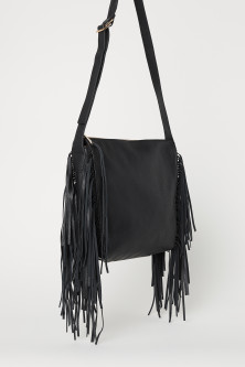 Hobo bag with fringing