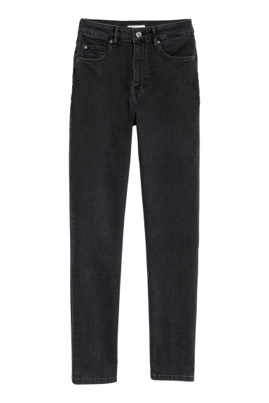 Slim High Waist Jeans - Dark grey - Ladies | H&M