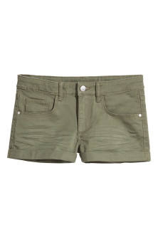 Short en twill Coupe ample