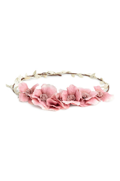 Hair decoration with flowers - Powder pink - Ladies | H&M CN