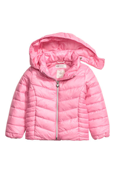 Padded jacket with a hood - Pink -  | H&M CN