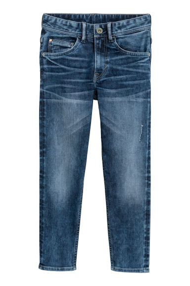 Relaxed Tapered Fit Jeans - 深牛仔蓝 - Kids | H&M CN