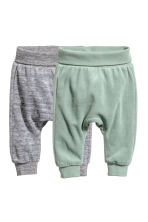2-pack cotton trousers - Dusky green/Grey - Kids | H&M CN 1