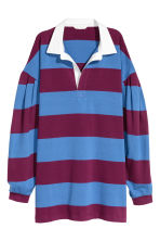 Striped rugby shirt - Blue/Striped - Ladies | H&M IE 2