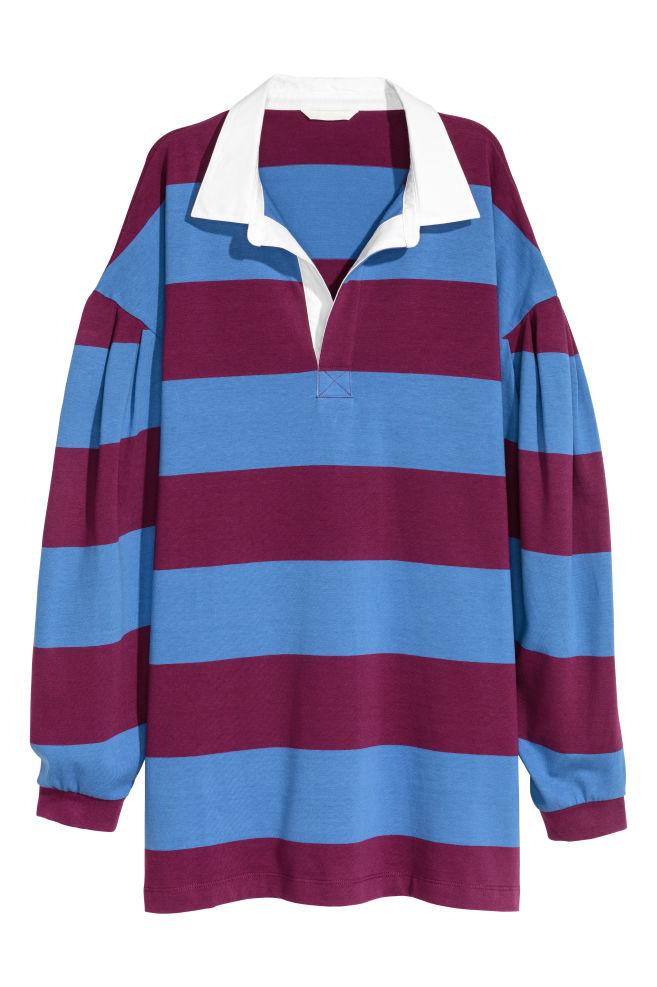 Striped Rugby Shirt Blue Las H M