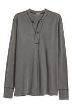 Henley top - Dark grey - Men | H&M 2