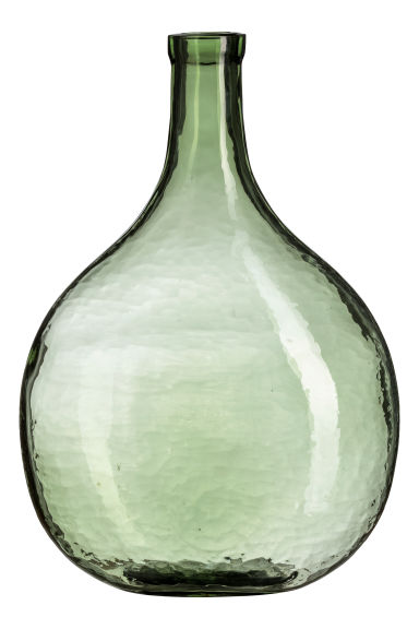 Large glass vase - Green - Home All | H&M GB