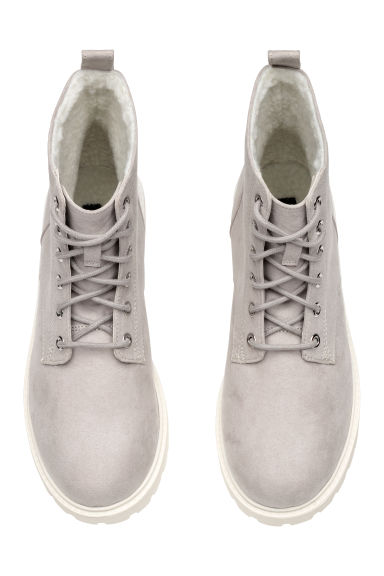 Pile-lined boots - Light grey - Ladies | H&M GB