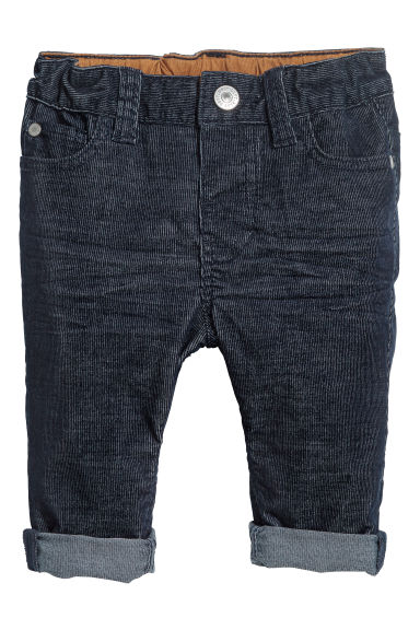 Corduroy trousers - Dark blue - Kids | H&M