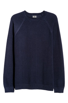 Textured-knit Cotton Sweater