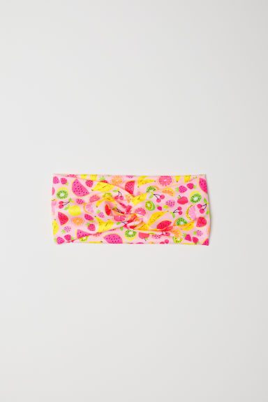 Patterned hairband - Light pink/Fruit - Kids | H&M CN