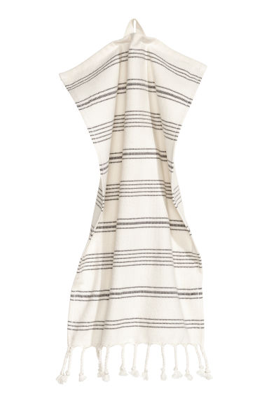Striped guest towel - White/Grey striped - Home All | H&M IE