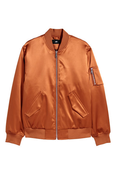 Padded bomber jacket - Dark orange - Men | H&M