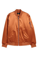 Padded bomber jacket - Dark orange - Men | H&M CN 2