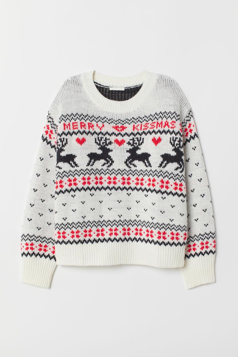 Pattern-knit Sweater