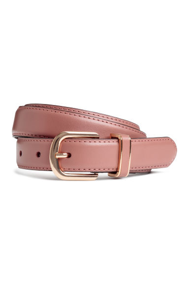 Leather belt - Vintage pink - Ladies | H&M