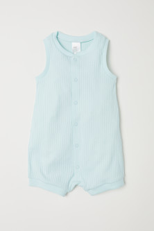 Ribbed romper suit