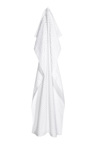 Jacquard-patterned bath towel - White - Home All | H&M GB