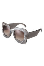 Sunglasses with sparkly stones - Charcoal grey/Sparkly stones - Ladies | H&M IE 2
