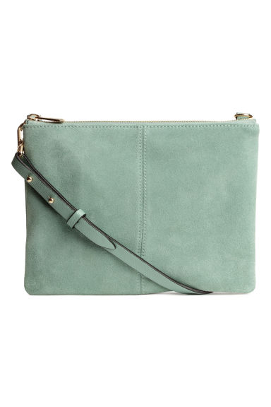 Small bag with suede details - Dusky green - Ladies | H&M GB