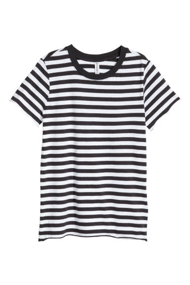 Cotton T-shirt - White/Striped - Ladies | H&M CN 1