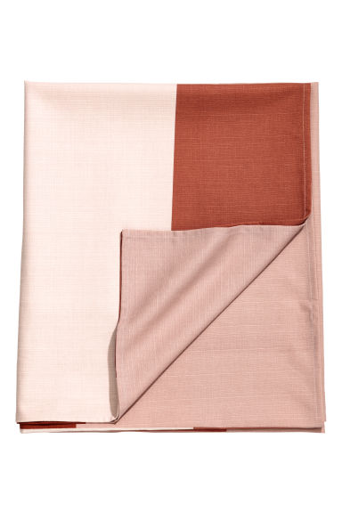 Block-print tablecloth - Pink/Multicoloured -  | H&M CN